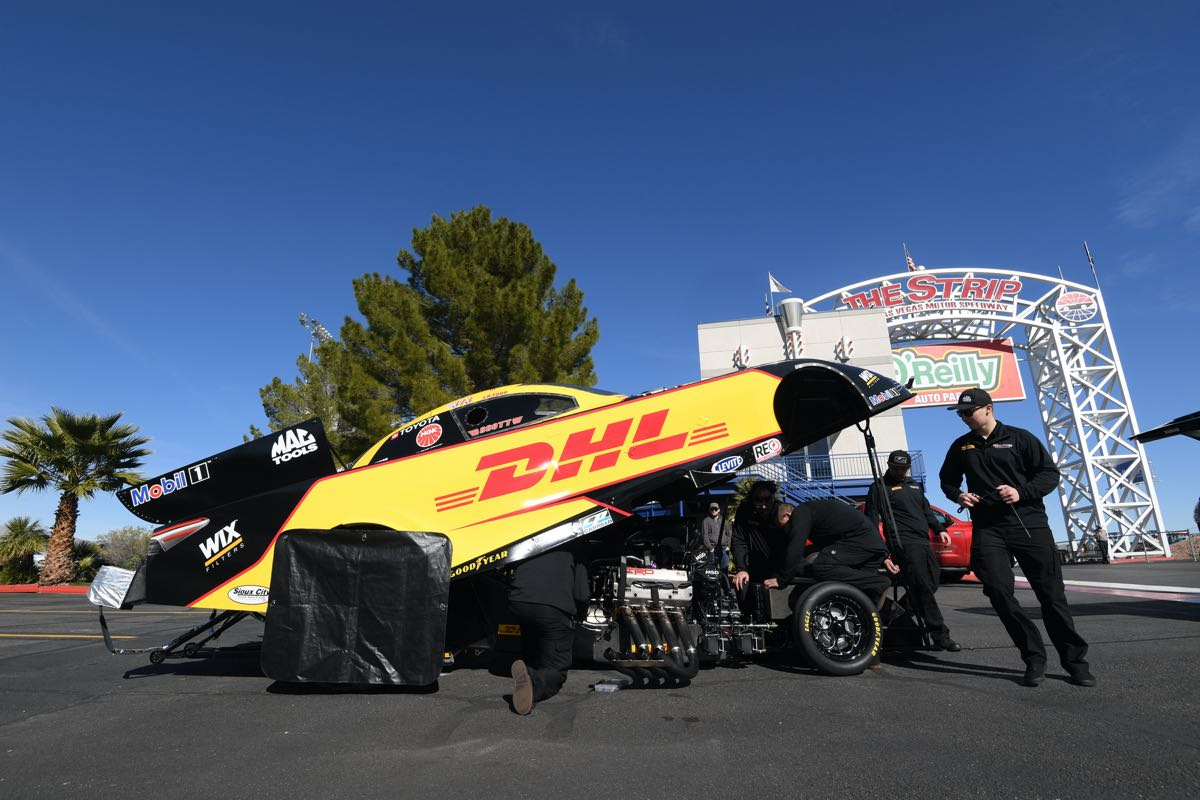 J.R. Todd and the DHL Funny Car